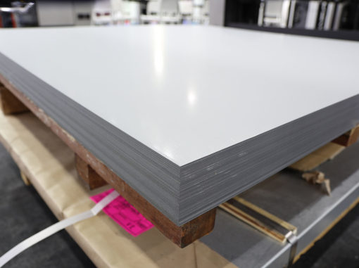 stack of steel sheets